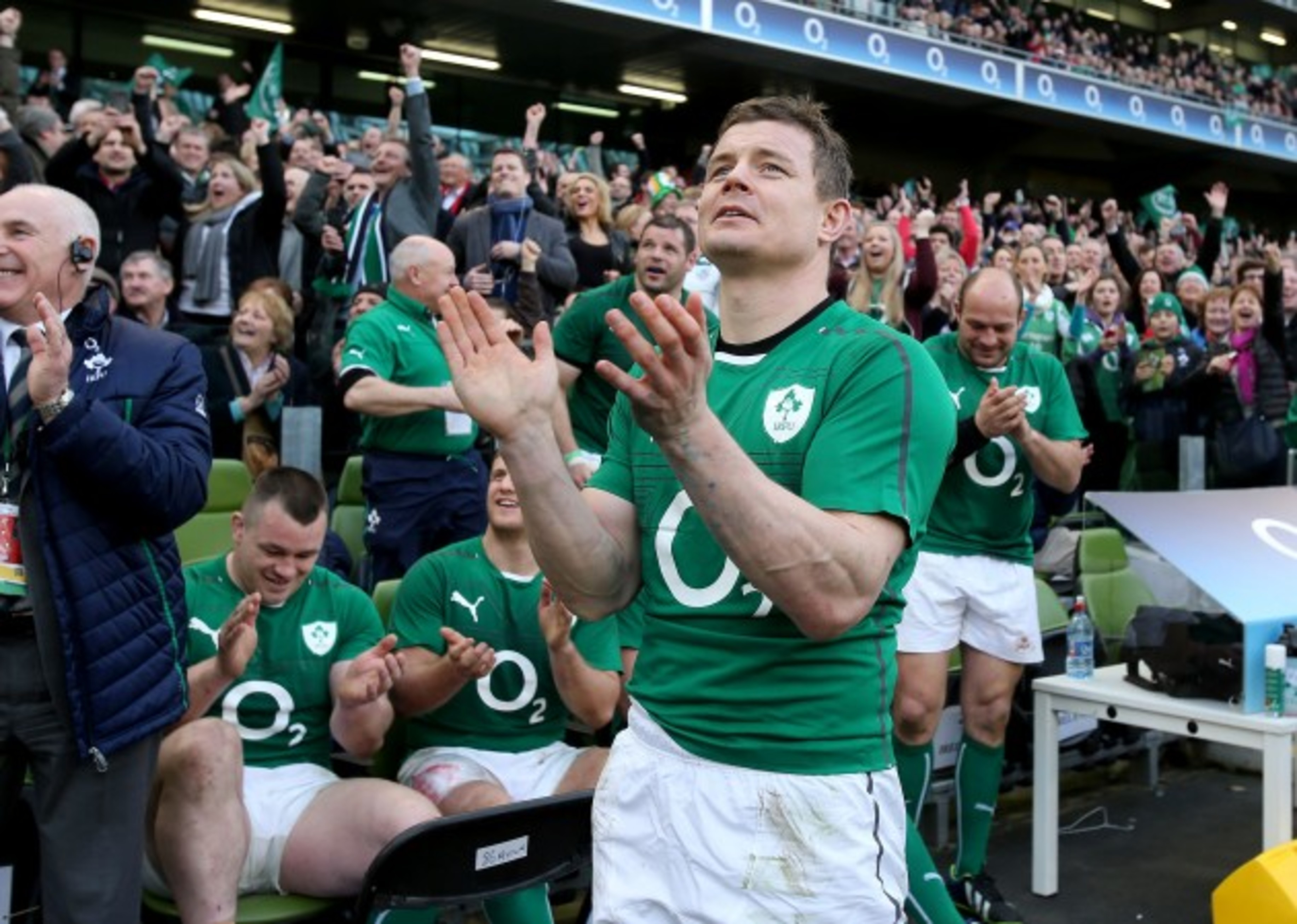 Brian O'Driscoll after being substituted